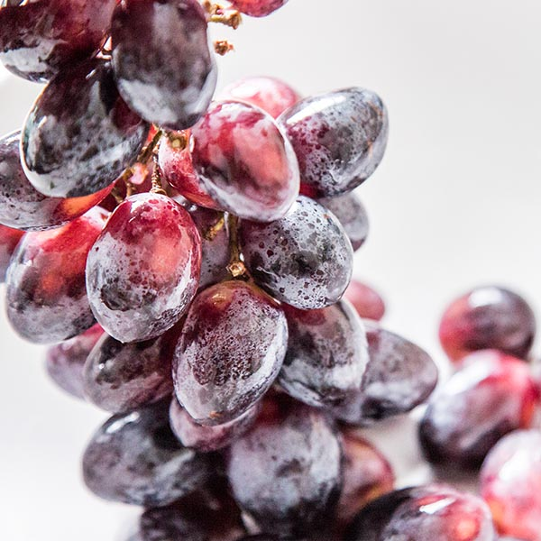 Red grape cluster