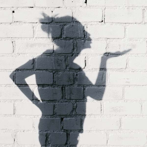 Shadow blowing kisses