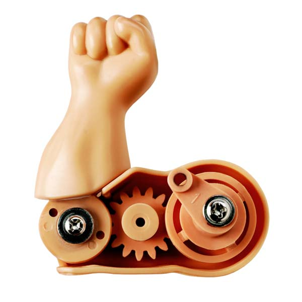 Wind up toy arm