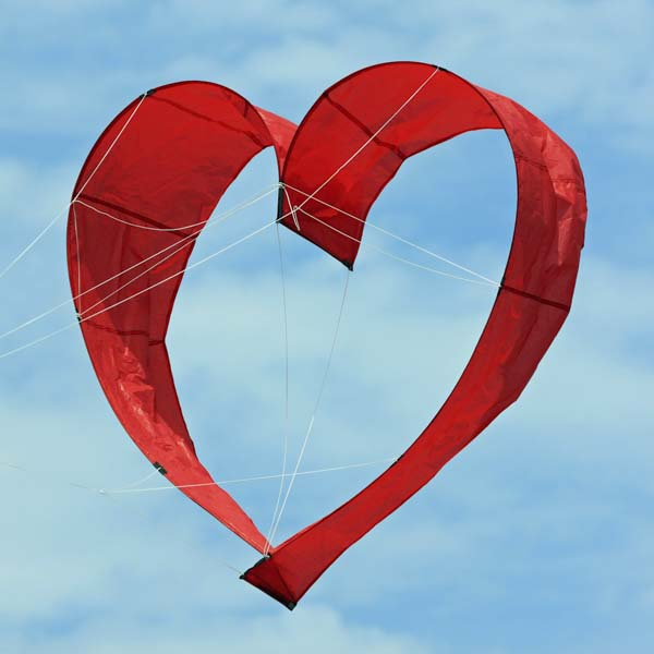 Heart shaped kite in the sky