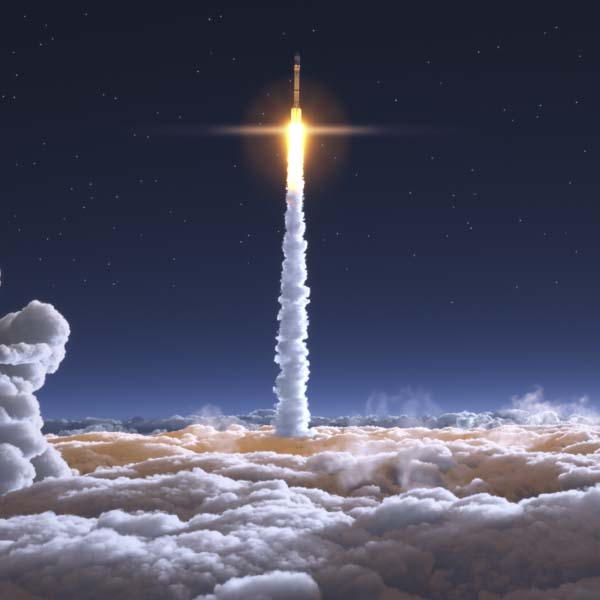 Rocket launched in space