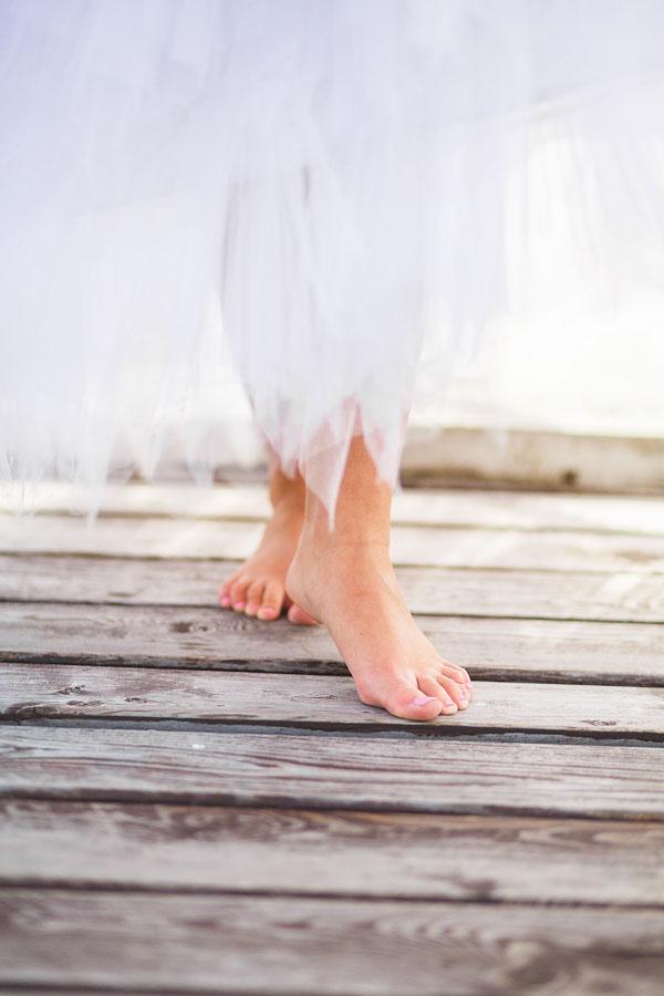 Fairy walking on pier