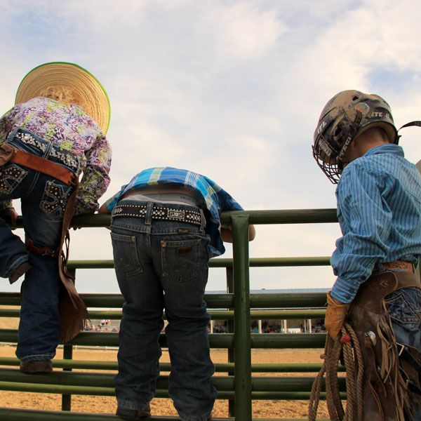 Little rodeo boys waiting for their turn