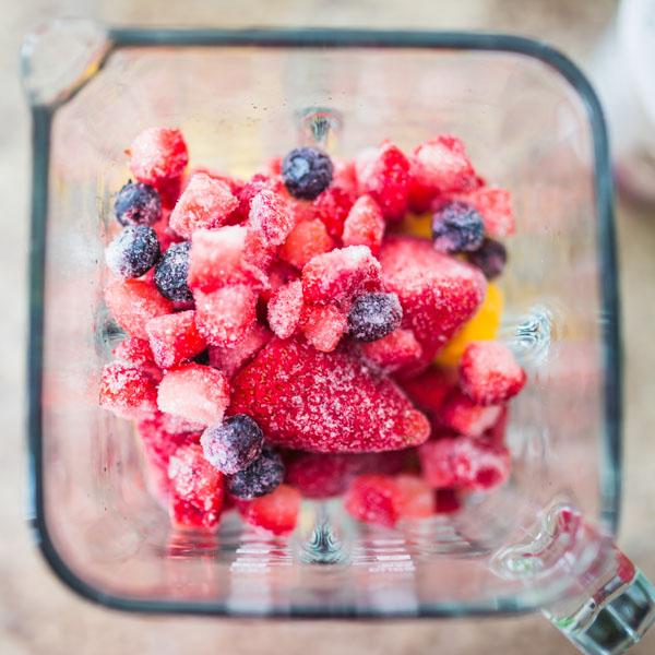 Blender of berries