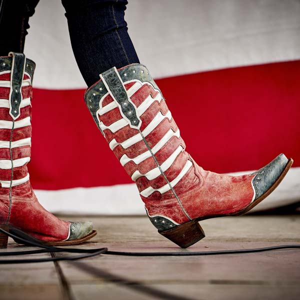 Stars and stripes boots