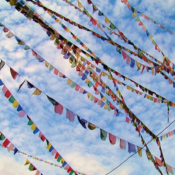 Prayer flags gracing the sky